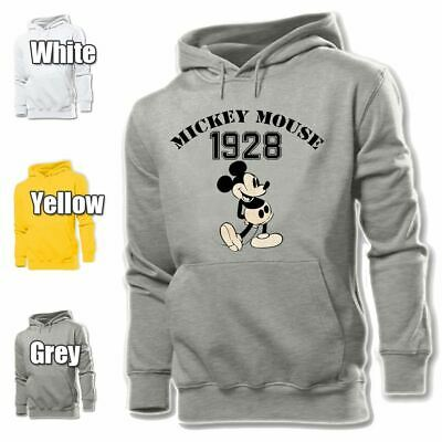 DISNEY Cruise Line Mens Hoodie Sweatshirt Mickey Mouse Hooded Sweater Gray New
