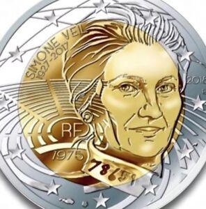 France 2 Euro Coin 2018 Commémorative Simone Veil New Unc De Rouleau-afficher Le Titre D'origine Ghkjnydd-08004524-763653467