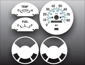 1977-1980-Chevrolet-Luv-Pickup-White-Face-Gauges-for-Instrument-Cluster-77-80
