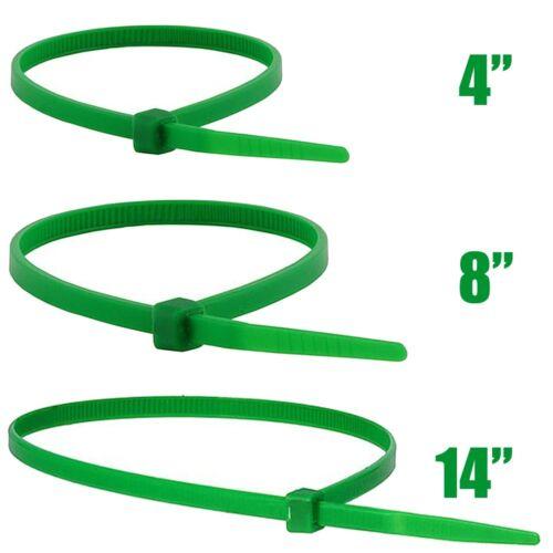 """4/"""" 8/"""" 14/"""" Nylon Plastic Cable Wire Zip Tie Cord Strap Wrap Fasten Organizer Lot"""