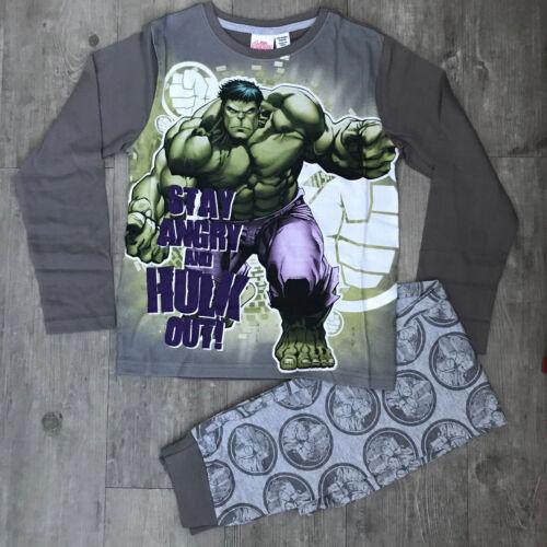 Garçons Mickey Mouse Paw Patrol Hulk Pyjama Haut à Manches Longues /& Bas Âges 1-13