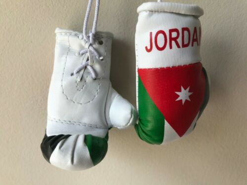 JORDAN flag Mini Boxing Gloves for Car Truck Bus Jeep SUV RV Decor Rear-View Mir