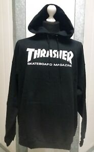 21fad330fdf2 Image is loading New-Thrasher-Skateboard-Skate-Mag-Logo-Black-Hoody-
