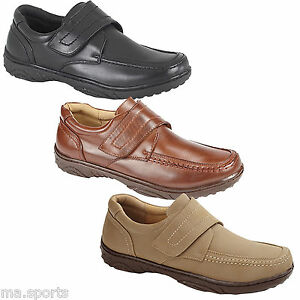 NEW-MENS-LEATHER-CASUAL-WEAR-TOUCH-FASTENING-BOOTS-SHOES-VELCRO-TRAINERS-UK-SIZE