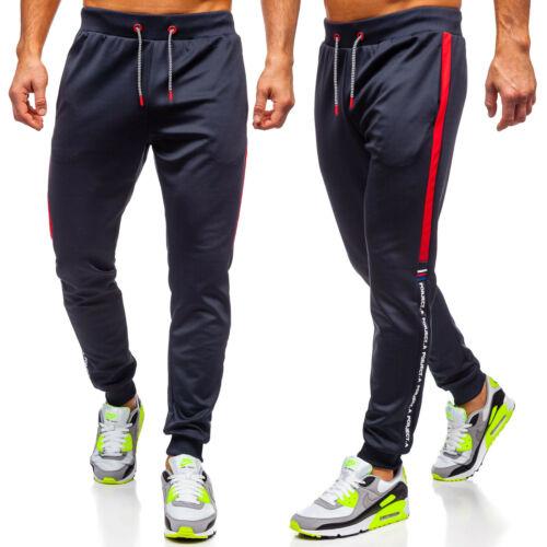 Traininghose Sporthose Laufhose Joggerhose Slim Fit Fitness Herren BOLF Motiv