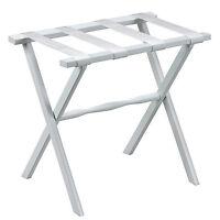 Luggage Racks - mayfair Wooden Luggage Rack - White Nylon Straps