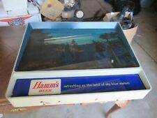 1950'S HAMMS BEER SIGN T.V. RIPPLER MOTION WATER RED CANOE