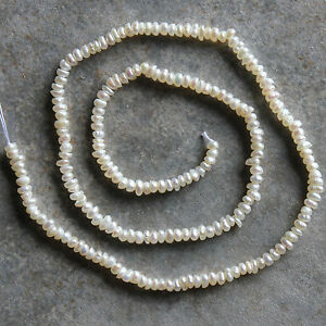 Fresh Water Pearl Small Round Beads Strand, for crafting & jewelry