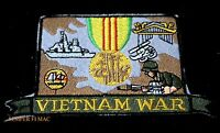 VIETNAM WAR MEDAL PATCH US ARMY MARINES AIR FORCE NAVY DD HUEY USCG USS VETERAN