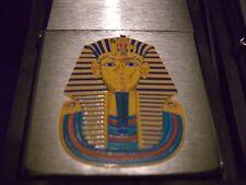 2 Egyptian Zippo Lighters!NEW!1995,King Tut, Nefertiti Silver,Rare!Dupont,Ronson