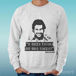 Männer Pullover Grau Pablo Escobar Narcos Alle Mehl die Meine Rucksack