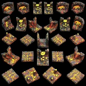 NEW-LAVA-CAVERN-SET-Dwarven-Forge-Expertly-Hand-Painted-GT5-LC-P-Dwarvenite