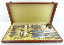 25 teiliges original altes SAM Besteck in 60er Silberauflage e686