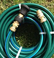 30m Great Quality 18mm Garden Water Hose With 3/4 Brass Fittings & Fire Nozzle