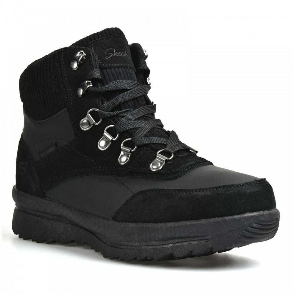 Skechers Womens Road Heights Waterproof Boots (Black)