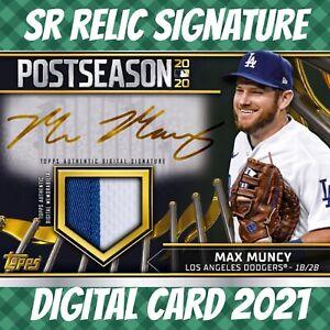 Topps Bunt 21 Max Muncy PostSeason Rewind Signature Relic 2021 Digital Card