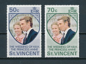 St.Vincent #358-9 MNH, Royal Wedding, 1973