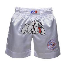 MUAY THAI SHORTS KICK BOXING BULLDOG MMA BOXING SHORTS ADULT KIDS Size XS to 2XL