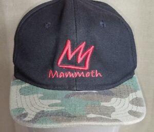 Mammoth Mountain Cap Blue Camo Bill Baseball Style One Size Fits All ... 7a781e648d5