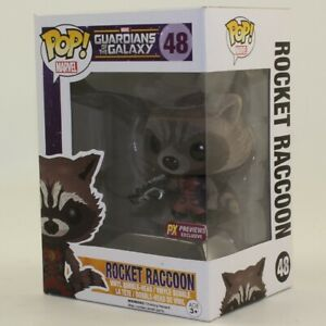 Funko-POP-Guardians-of-the-Galaxy-Movie-Figure-ROCKET-RACCOON-48-Excl-NM