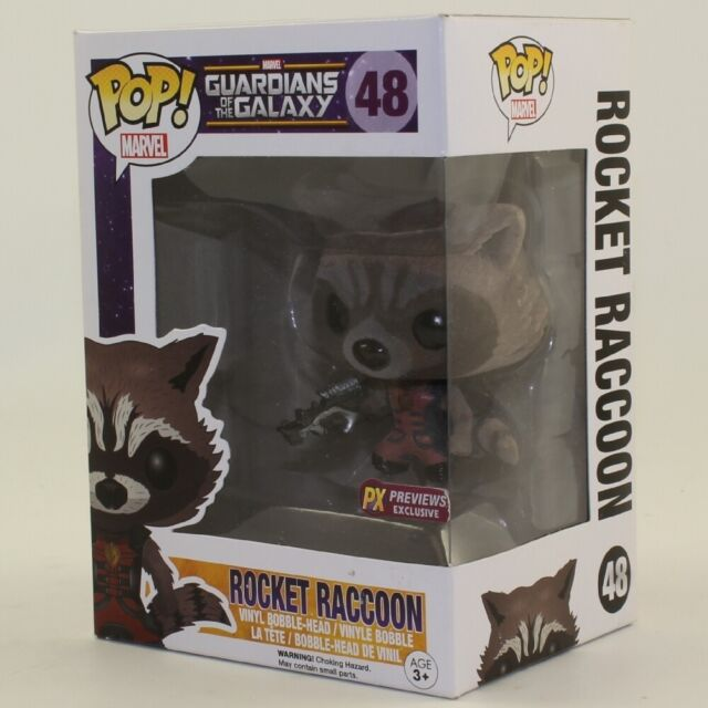 Funko POP! Guardians of the Galaxy Movie Figure - ROCKET RACCOON #48 (Excl) *NM