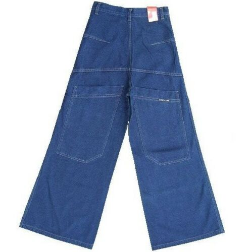 NEW 90s Y2K MENS BAGGY SKATER JEANS STREET DENIM HIP HOP WIDE LEG MEGA VINTAGE