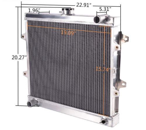 3 ROWS FULL ALUMINUM RADIATOR FIT TOYOTA PICKUP 4RUNNER 1984-95 2.4L MT 945