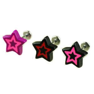 1-2mm-Stern-Ohrstecker-Helix-Ohr-Piercing-Schmuck-mit-Labret-Acryl-2-farbig