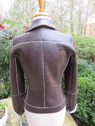 Shearling Mint Triple Condition Leather Jacket Ozbek Ultra 6 Faux Sz t8w4vqO