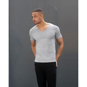 f781c0949 SF Mens Wide V Neck T-Shirt Mens Smart Half Sleeves Lightweight ...