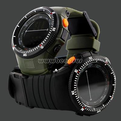 Military Men Analog Digital Army Sport Silicone LED Waterproof Wrist Watch