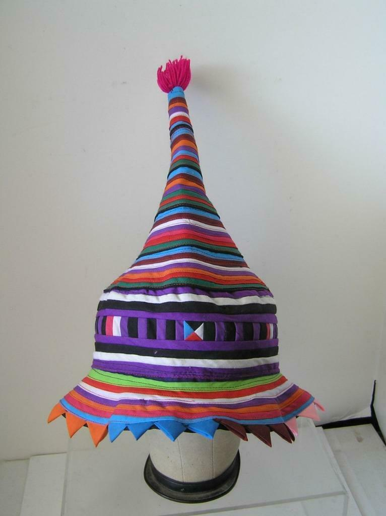 Seminole Native American Patchwork Conical Hat RA… - image 3