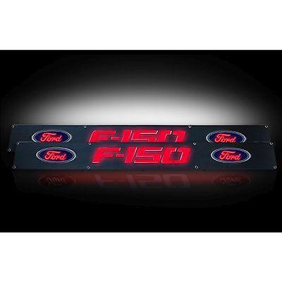 RECON 264321FDBKRD 2009-2014 Ford F150 Black-Red Emblems Illuminated door sill