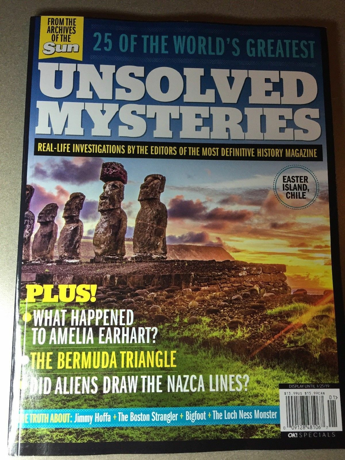 25 OF THE WORLD'S GREATEST UNSOLVED MYSTERIES 2018 MAGAZINE
