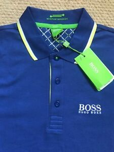 a2f4d28f2 Hugo Boss short sleeve polo shirt Paddy Pro Model Blue Men New 100 ...