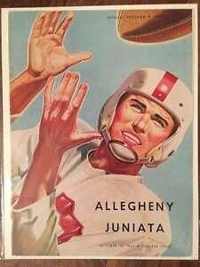 JUNIATA COLLEGE @ ALLEGHENY COLLEGE COLLEGE FOOTBALL PROGRAM 1951 EX