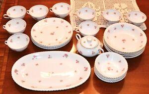 Winterling-Rosebud-Marktleuthen-Bavaria-Porcelain-29-Pc-Fine-China-West-Germany