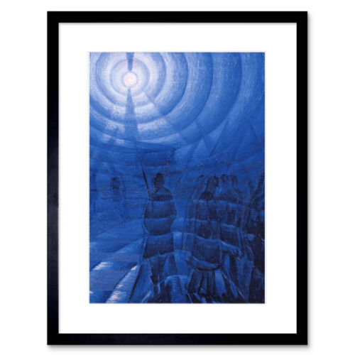 Russolo Solidity Of Fog Painting Framed Wall Art Print 12x16 Inch