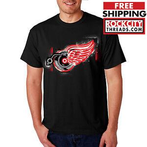 Detroit Red Wings Records T Shirt Shirt Logo Tshirt Nhl Lions Tigers