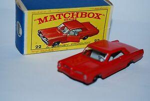 Matchbox Series Pontiac G.p. Coupe Rouge N° 22 Neuf / Boite New/box