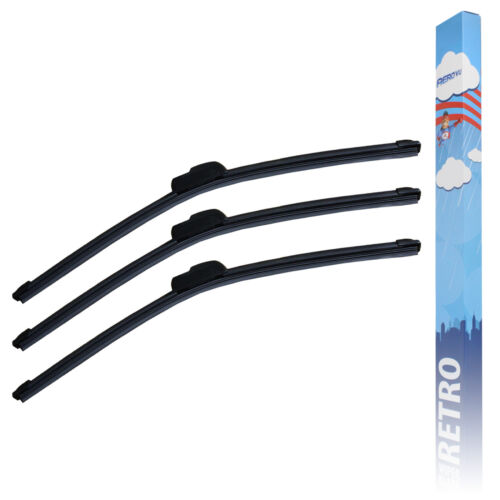 Aero VU Front /& Rear Flat Window Windscreen Wiper Blades Upgrade Service Set
