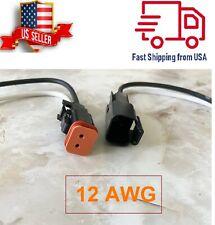12 Awg Assembled Deutsch 2 Pin Waterproof Connector 6 Wire Black
