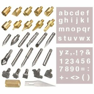 28pcs-Wood-Burning-Pen-Tipps-amp-Schablone-Set-Loeten-Iron-Arbeiten-Schnitzerei