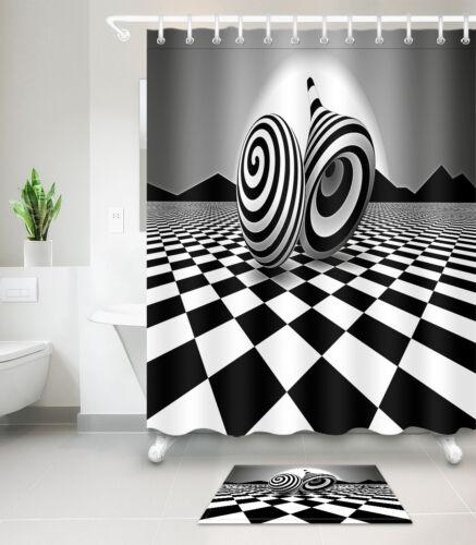 Horror Xmas Night Waterproof Fabric Bathroom Shower Curtain With Hook Set 72Inch
