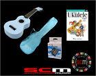 UKULELE STARTER PACK U30LB LIGHT BLUE SOPRANO UKE + GIG BAG + LEARN DVD +TUNER