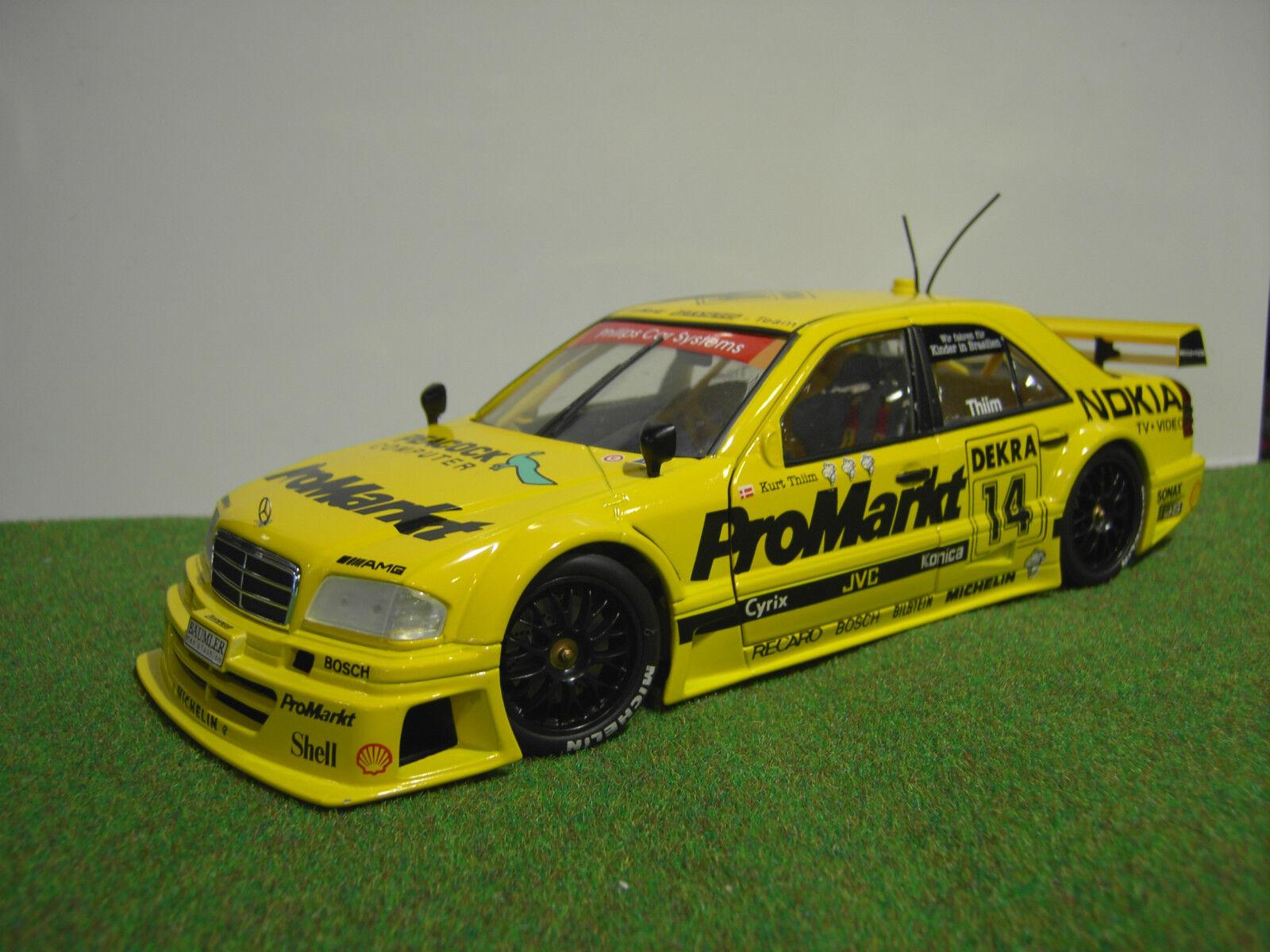 MERCEDES C-CLASS DTM jaune #14 Thiim PROMARKT 1/18 UT Model's voiture miniature