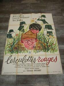LES-CULOTTES-ROUGES-Bourvil-1962-Affiche-Originale-120x160-Vintage-Movie-Poster