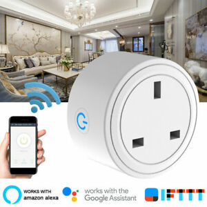 Smart-WiFi-Plug-Outlet-Swtich-work-with-Echo-Alexa-Google-Home-APP-Remote-UK-PLU