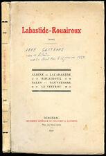 Abbé Gautrand : LABASTIDE-ROUAIROUX (Tarn) - 1930. Vallée du Thoré