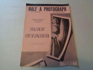 """100% Vrai 1953 """"un Demi-photographie"""" Par Bob Russell Et Harold Stanley Partitions-afficher Le Titre D'origine ProcéDéS De Teinture Minutieux"""